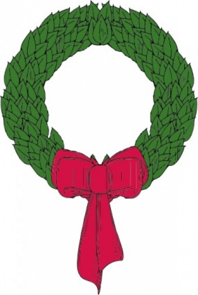 Free vector Vector clip art  Christmas Wreath clip art