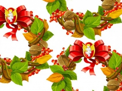 Free vector Vector Christmas  christmas wreath cool texture vector 2
