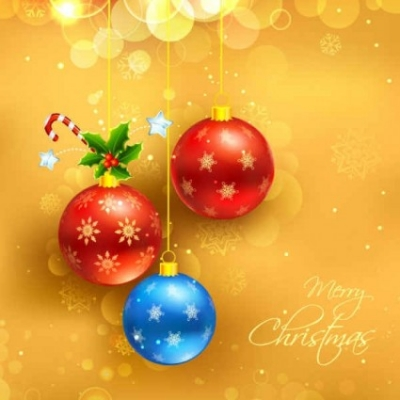 Free vector Vector background  Christmas Yellow Background