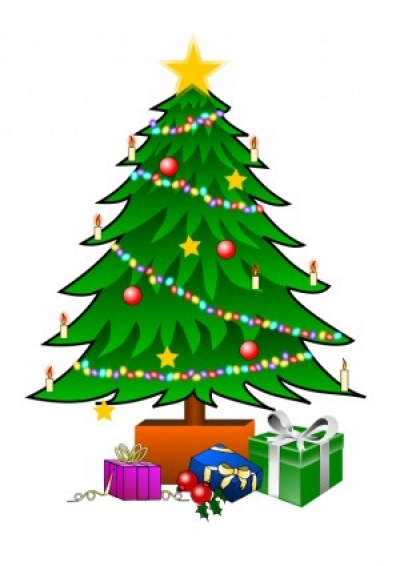 Free vector Vector clip art  ChristmasTree with Gifts