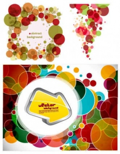 Free vector Vector background  Circle Colorful background