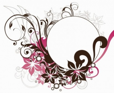 Free vector Vector floral  Circle Frame with Floral Decorations Vector Graphic