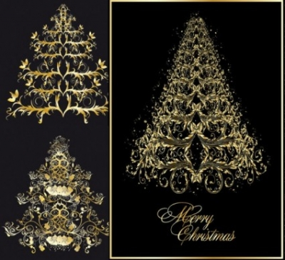 Free vector Vector pattern  classic europeanstyle christmas tree pattern vector