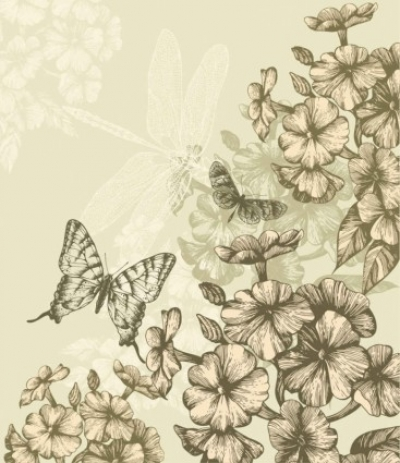 Free vector Vector background  Classic hand painting vector background