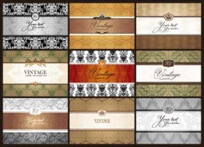 Free vector Vector background  classic pattern cards background 01 vector