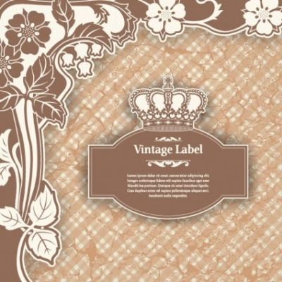 Free vector Vector pattern  classic pattern label 01 vector