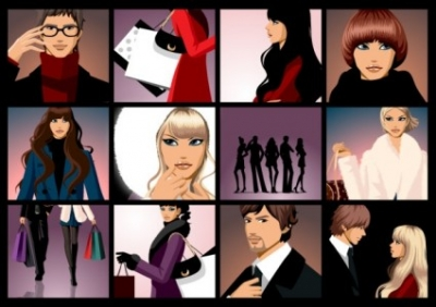 Free vector Vector people  closeup of men and women vector fashion