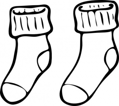 Free vector Vector clip art  Clothing Pair Of Haning Socks clip art