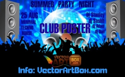 Free vector Vector misc  Club Poster