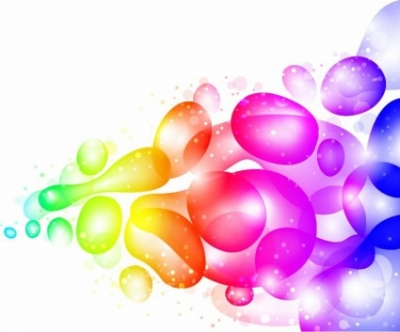 Free vector Vector abstract  Color Abstract with Transparent Bubbles and Drops Vector Background