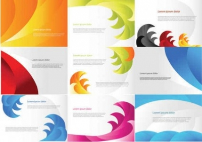 Free vector Vector background  Color Business Cards Templates
