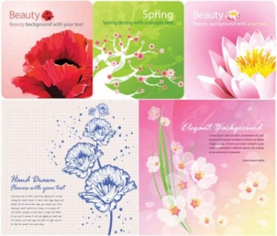 Free vector Vector background  Color flowers background vector graphics