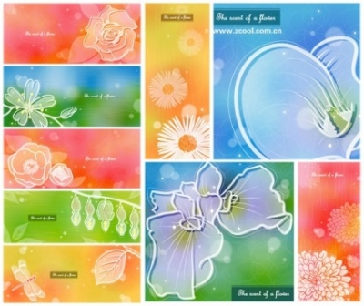 Free vector Vector background  color soft floral background vector 4 9p