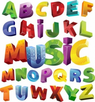 Free vector Vector misc  Colorful 3D Alphabet Vector Graphic