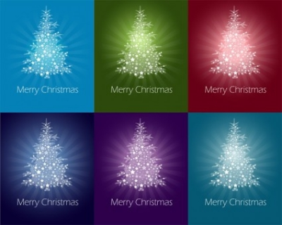 Free vector Vector abstract  Colorful Abstract Christmas Tree Vector Graphics