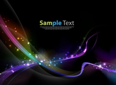 Free vector Vector abstract  Colorful Abstract Light Wave Vector Background