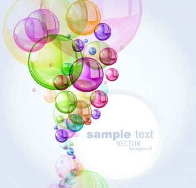 Free vector Vector background  colorful bubbles background 01 vector