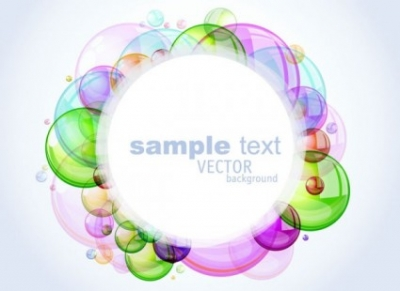 Free vector Vector background  colorful bubbles background 02 vector