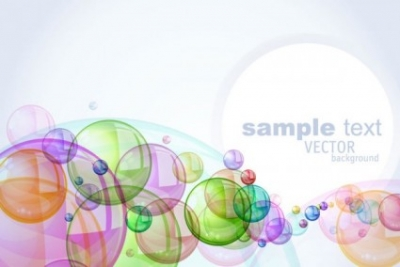 Free vector Vector background  colorful bubbles background 03 vector