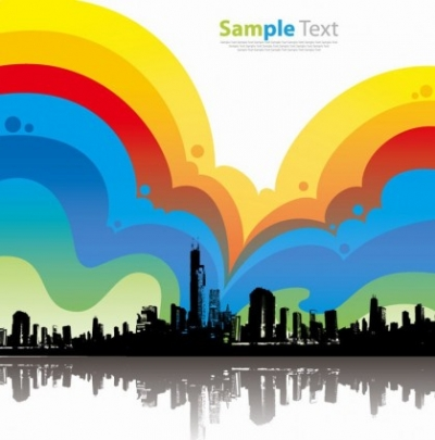 Free vector Vector background  Colorful City Background Vector Illustration