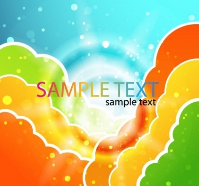 Free vector Vector misc  Colorful Clouds Vector Illustration