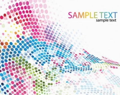 Free vector Vector background  Colorful Dotted Background Vector Illustration