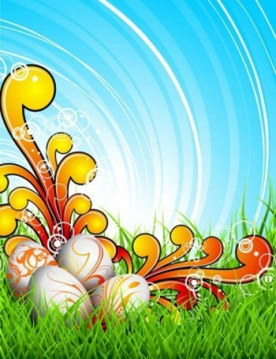Free vector Vector background  colorful easter background 03 vector