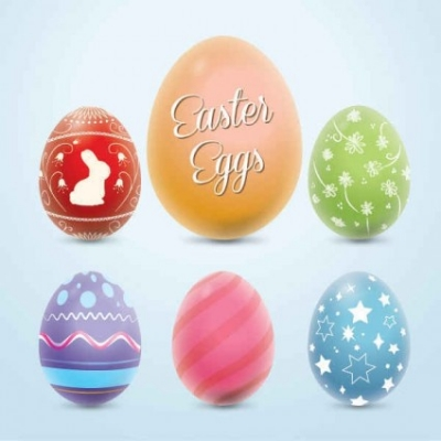 Free vector Vector background  Colorful Easter Eggs Vector Graphic