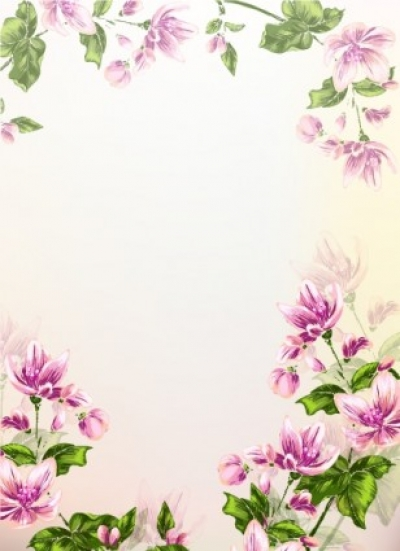 Free vector Vector background  Colorful floral background