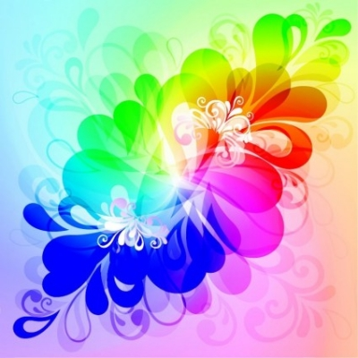 Free vector Vector floral  Colorful Floral Background Vector Graphic
