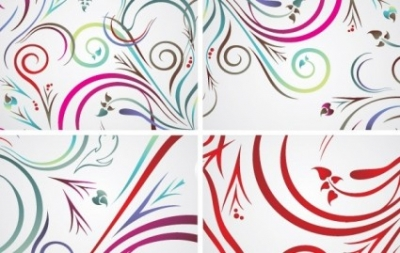 Free vector Vector floral  Colorful floral backrounds