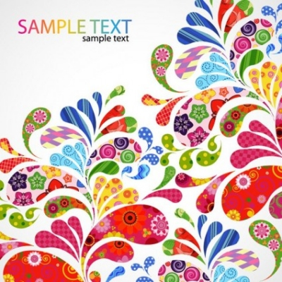 Free vector Vector floral  Colorful Floral Design Vector Graphic