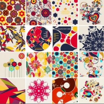 Free vector Vector floral  colorful floral elements vector