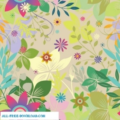 Free vector Vector floral  Colorful floral seamless pattern background
