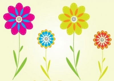 Free vector Vector flower  Colorful Flower Vectors