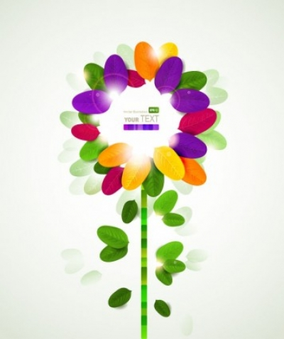 Free vector Vector flower  colorful flowers background 01 vector