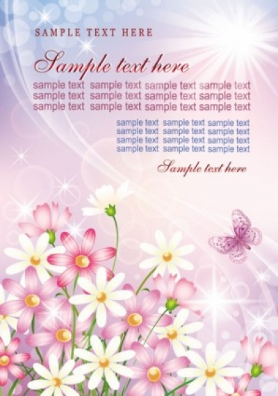 Free vector Vector flower  colorful flowers background 03 vector