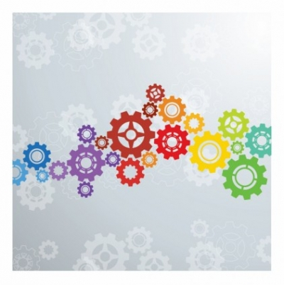 Free vector Vector background  Colorful gears background