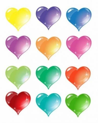 Free vector Vector Heart  Colorful Heart Love Vector Set