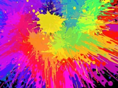 Free vector Vector background  Colorful Paint Splats Vector Background