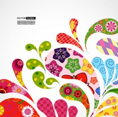 Free vector Vector background  colorful pattern background 01 vector