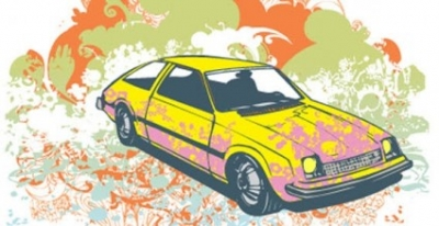 Free vector Vector car  Colour background with car