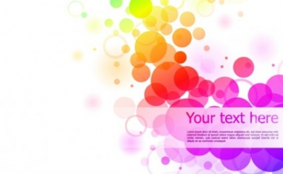 Free vector Vector background  Colourful Circles On White Background