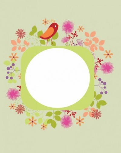 Free vector Vector background  Colourful floral background