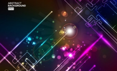 Free vector Vector background  Colourful Glowing Wires Background