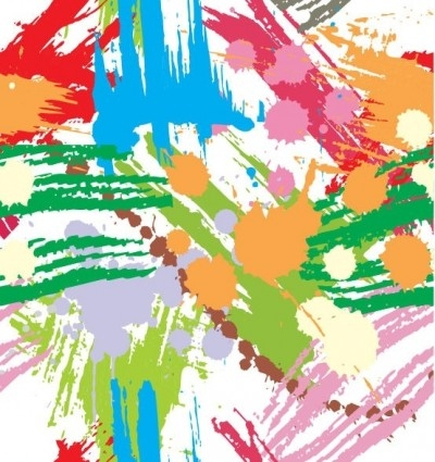 Free vector Vector background  Colourful Paint Blots Seamless Background Vector
