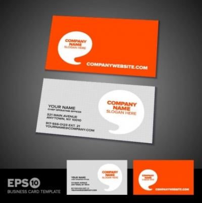 Free vector Vector misc  commercial business card template 05 vector