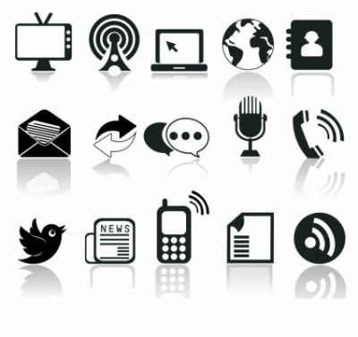 Free vector Vector icon  communication icons
