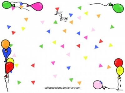Free vector Vector background  Confetti Background with Balloon Frame