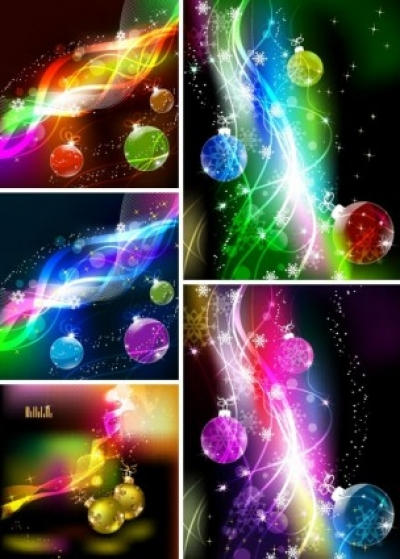 Free vector Vector background  cool christmas symphony of light vector background